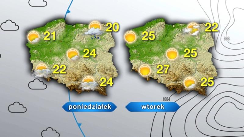 Prognoza pogody na najbliższe dwa dni