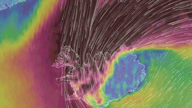 Załamanie pogody na Islandii. <br />Odwołane loty, zamknięte szkoły