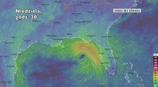 Prognozowane porywy wiatru w burzy Sally